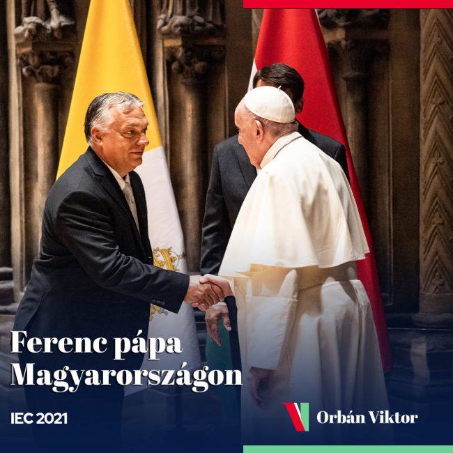 Képekben a Pápa látogatása