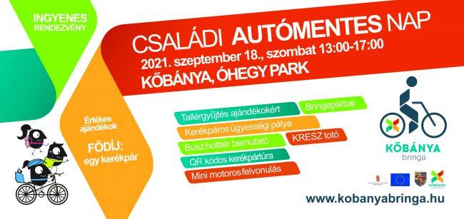 Programajánló: Kőbányai Családi Autómentes Nap szeptember 18-án